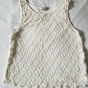 Pretty Lacey Sleeveless  Top by Forever 21